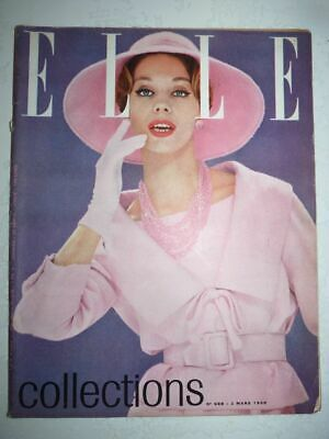 Magazine mode fashion ELLE french #688 2 mars 1959 COLLECTIONS
