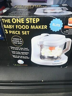 Baby Brezza Glass Baby Food Processor And Blender Machine  One Step Steamer
