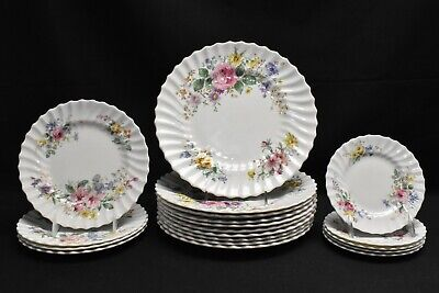 Royal Doulton Arcadia Green Backstamp Dinner Salad Bread Plate - 19 Pcs (Faults)