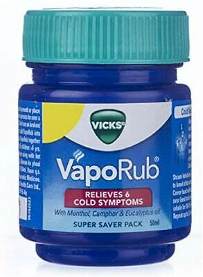 50gm Vicks VapoRub with 10ml Vics Inhaler Free!! - Relief From Cough And Cold