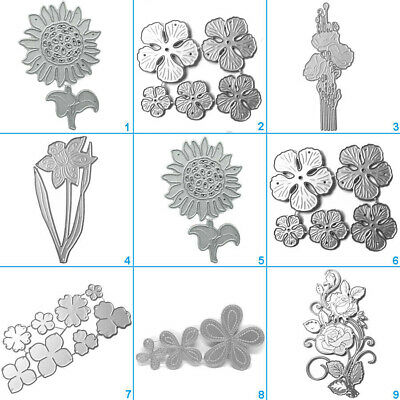 Happy Flower Cutting Dies Metal Stencil DIY Scrapbooking Album Paper Card Art 3D