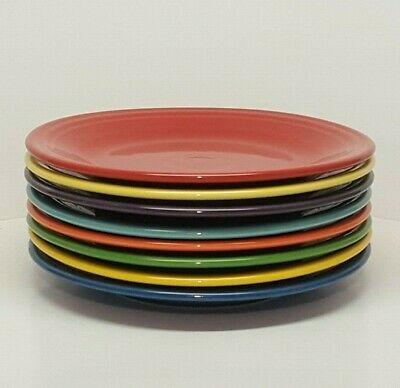 Fiestaware mixed colors Dinner Plate Lot of 8 Fiesta 10.5 inch plates 8C1M2