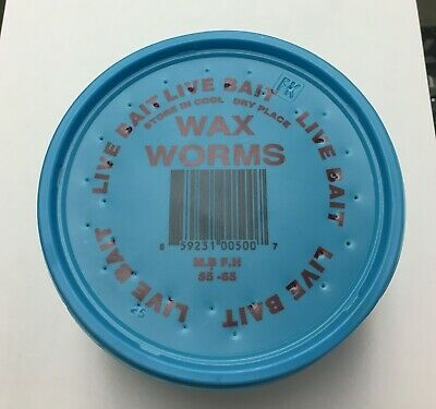 250-Count Wax Worms Live Bait for Fishing/Feeding