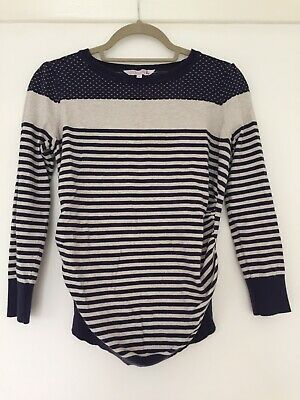 Thin Summer Maternity Jumper Red Herring Size 10 Striped