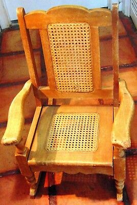 Quality, Antique, Cain, Children's Rocking Chair - #1