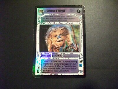 Star Wars CCG Endor Foil UNCUT SHEET Dark Side