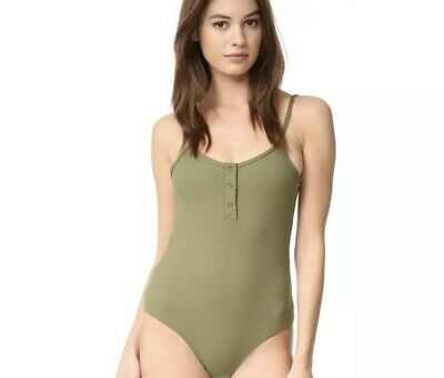 5758496dc Tavik Womens Olive Green Ribbed Lila One Piece Swimsuit Size M Retail 148$