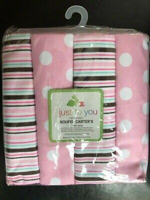 "4 x Baby Nursing Wrap swaddling cotton Receiving Blankets Pack 30 x 30"" girls"