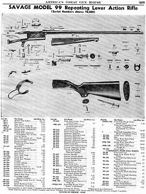 1975 PRINT AD of Savage Model 99 99A 99E Carbine Lever Action Rifle