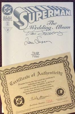 Superman Wedding Album #1 signed & numbered with COA (DC 1996) VF/NM Condition.