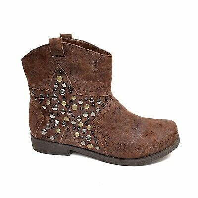 "Women's Big Buddha ""Mint"" Brown Studded Faux Suede Boots Size 9"