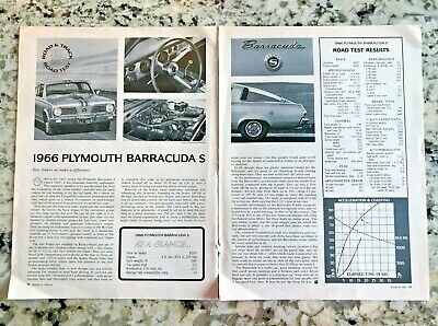 1966 PLYMOUTH BARRACUDA Article 5 Pages Muscle Car Photos
