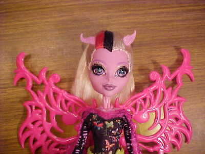 Bonita Femur Doll, Monster High, EX with Wings, Dress, Hands and Arms