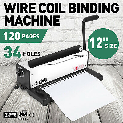 All Steel Manual Spiral Coil Binding Machine 34 Holes Puncher FACTORY DIRECT