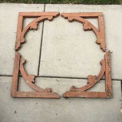 4 Vintage Wooden Corbels Roof Support Farm House Old Porch Corners