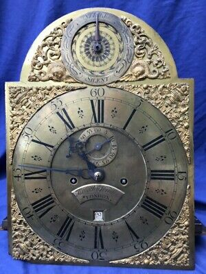 Antique Brass Dial 8 Day Longcase Clock Movement Timothy Vernier London C1740