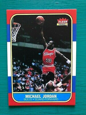 1986-1987 Fleer Michael Jordan Chicago Bulls Basketball Reprint Rookie Card #57