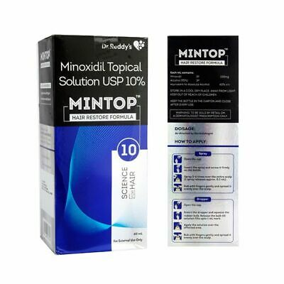 MINTOP /Dr. Reddy's Minox 10%Topical Solution USP PACK SIZE(2 TO 5)Free Shipping