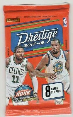2017-18 Panini Prestige 1 Unopened Pack Of Basketball Cards