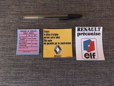 kit autocollants Renault 4 L - version 2
