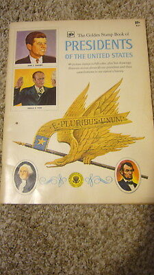 The Golden Stamp Book of Presidents of the United States 47  stamps in book