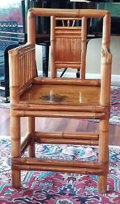 Antique Chinese Bamboo Chair