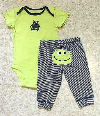 c9ee59c24 Carters Baby Boy Sz 6M Yellow/Navy Monster 'Wild About Mommy' Knit Bodysuit