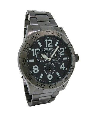 I by Invicta IBI41704-004 Men's Round Analog Gunmetal Black Day Date Watch