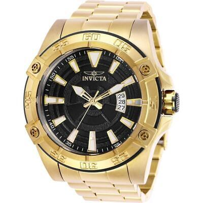 Invicta Pro Diver 27012 Men's 52mm Gold-Tone Automatic Watch with Black Dial