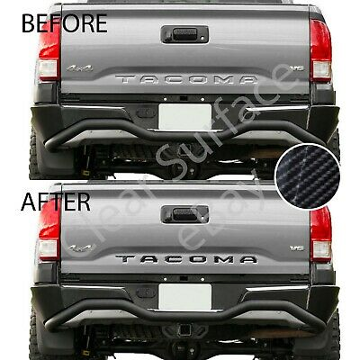 Max Gloss 6D Carbon Fiber Decal Tailgate Letter Insert 2016-2018 Toyota Tacoma