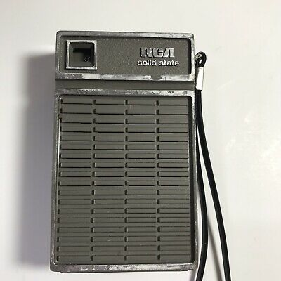 Vintage RCA Solid State AM Transistor Radio, Gray, Tested - Working