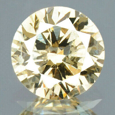 0.22 cts CERTIFIED Round Cut SI3 Sparkly Light Brown Loose Natural Diamond 12321