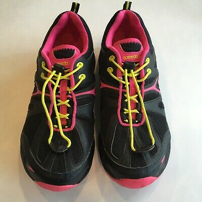 8bbf329ddeda5a Speedo Womens Hydro Comfort Shoes Black & Pink Size 9 Great Condition Multi  Use