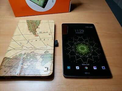 """LG G Pad X 8"""" V520 - 32GB (WIFI+4G LTE) AT&T Tablet w/ Fintie Leather Case"""