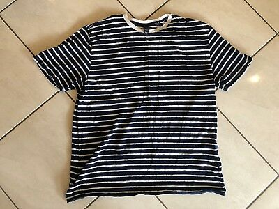 Ladies Size Xl Navy And White Stripe Cotton T Shirt By Factorie, Worn Once