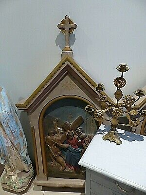 Large Antique French Church Timber & Plaster Panel Number Two