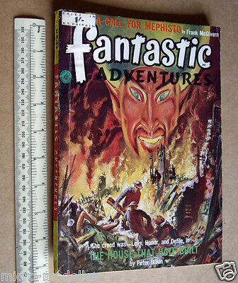 Fantastic Adventures #22 British Published 1950s SF Magazine. Superb Cover Art