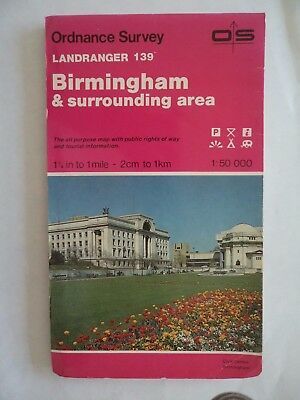 Ordnance Survey Map 1;50,000 139 Birmingham 1987 Inc. Sutton Coldfield, Solihull
