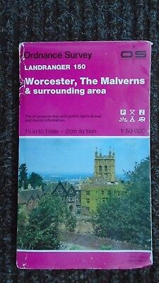 Ordnance Survey Map 1:50,000 150 Worcester Malvern 1984 Inc. Tewkesbury Broadway