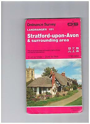 Ordnance Survey Map 1;50,000 151 Stratford 1984 Inc Banbury, Leamington, Warwick