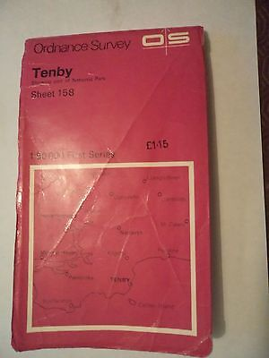 Ordnance Survey Map 1;50,000 158 Tenby 1974 Inc. Narberth Pembroke Haverfordwest