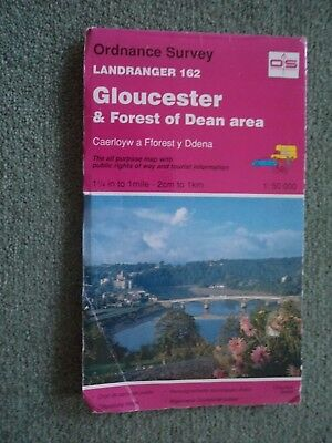 Ordnance Survey Map 1;50,000 162 Gloucester 1993 Monmouth Cinerford Stroud Ross