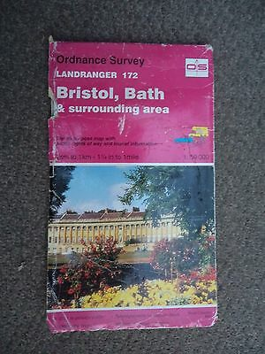 Ordnance Survey Map 1;50,000 Bristol Bath 172 1996 Inc. Yate, Chepstow, Keynsham