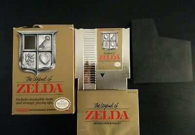 Nintendo NES The Legend of Zelda Gold with Manual and Box