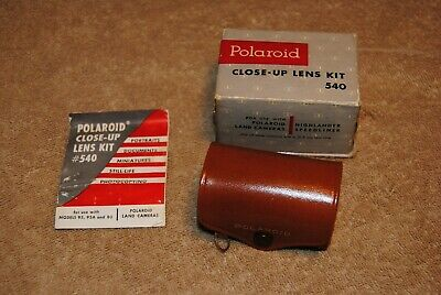 Vintage Polaroid Close-Up Lens Kit 540 with Original Case and Box