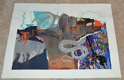 1990 Al Hinton African American Artist Collage University Michigan Nca 11X14