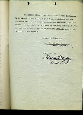 FANTASTIC Gone With The Wind (MGM, 1940) signed contract RARE autograph 1936
