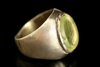 Near Eastern VERY RARE Intaglio, Antique Solid Silver Ring, Very Cool Ring
