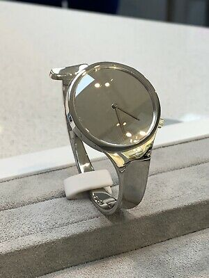 New Georg Jensen Vivianna Torun Bangle Watch With Mirror Dial VB226 34mm - Boxed
