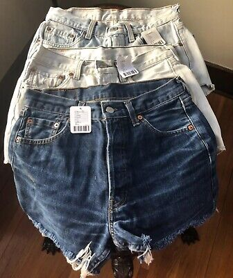 ed7041c14c 3 Vintage Levi's Urban Renewal Urban Outfitters Denim Shorts XS NWT Lot